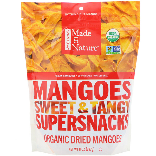 Made in Nature, Organic Dried Mangoes, Sweet & Tangy Supersnacks, 8 oz (227 g)