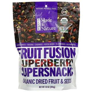 Made in Nature, بذور وفواكه عضوية مجففة، وجبات خفيفة فائقة القيمة الغذائية من مزيج الفواكه العضوية والتوت الفائق، 10 أونصة (284 جم)