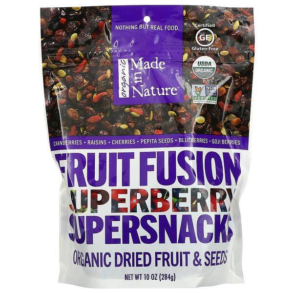 Organic Dried Fruit & Seeds, Organic Fruit Fusion Superberry Supersnacks, 10 oz (284 g)