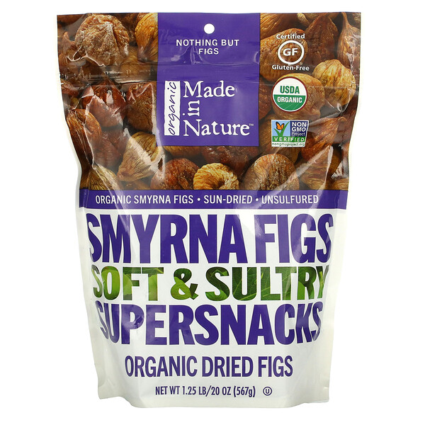 Organic Dried Smyrna Figs, Soft & Sultry Supersnacks, 20 oz (567 g)