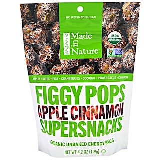 Made in Nature, Organic Figgy Pops, Supersnacks, Apple Cinnamon, 4.2 oz (119 g)