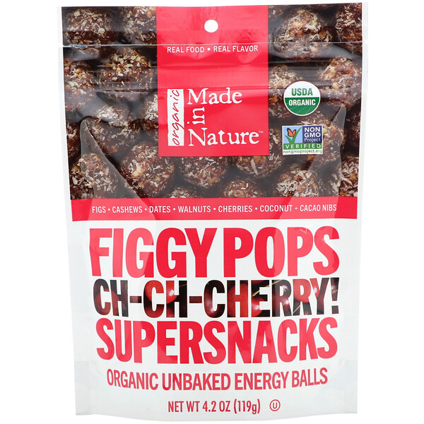 Made in Nature, Organic Figgy Pops, Ch-Ch-Chery Supersnacks, 4.2 oz (119 g)