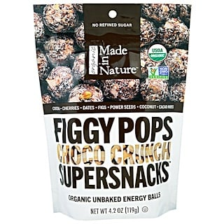 Made in Nature, Organic Figgy Pops, Supersnacks, Choco Crunch, 4.2 oz (119 g)