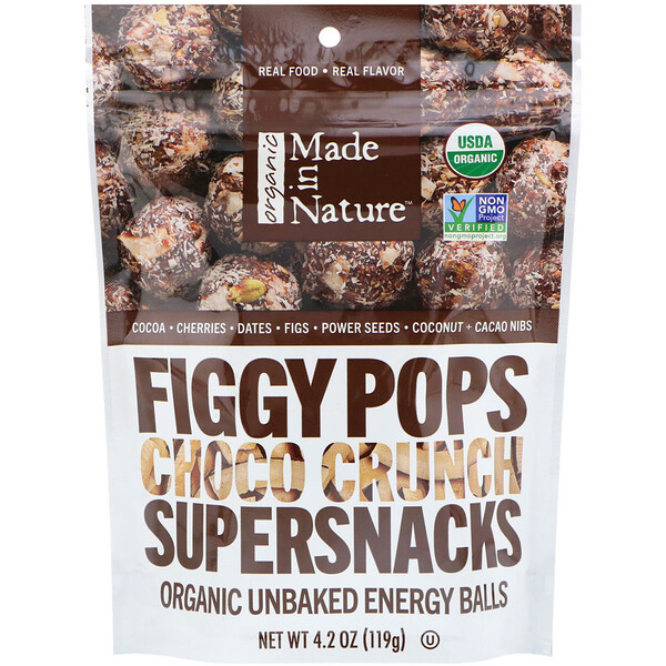 Made in Nature, Organic Figgy Pops, Choco Crunch Supersnacks, 4.2 oz (119 g)