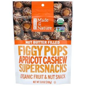 Маде ин натуре, Organic Figgy Pops, Apricot Cashew Supersnacks, 3.8 oz (108 g) отзывы