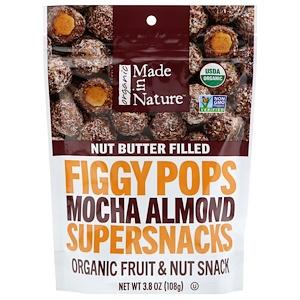 Маде ин натуре, Organic Figgy Pops, Mocha Almond Supersnacks, 3.8 oz (108 g) отзывы покупателей