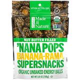 Made in Nature, 有機 Nana Pops,Banana-Rama 超級零食,堅果黃油夾心,3.8 盎司(108 克)