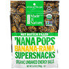 Made in Nature, Organic 'Nana Pops, Banana-Rama Supersnacks, Nut Butter Filled, 3.8 oz (108 g)