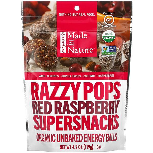 Razzy Pops, Red Raspberry Supersnacks, 4.2 oz (119 g)