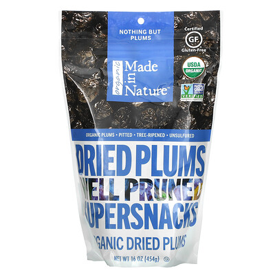 Made in Nature Organic Dried Plums, Well Pruned Supersnacks, 16 oz (454 g)