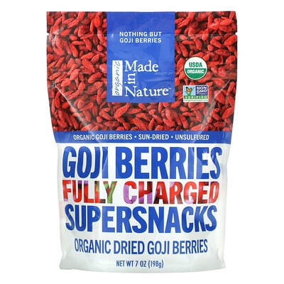 Купить Made in Nature Organic Dried Goji Berries, 7 oz (198 g)