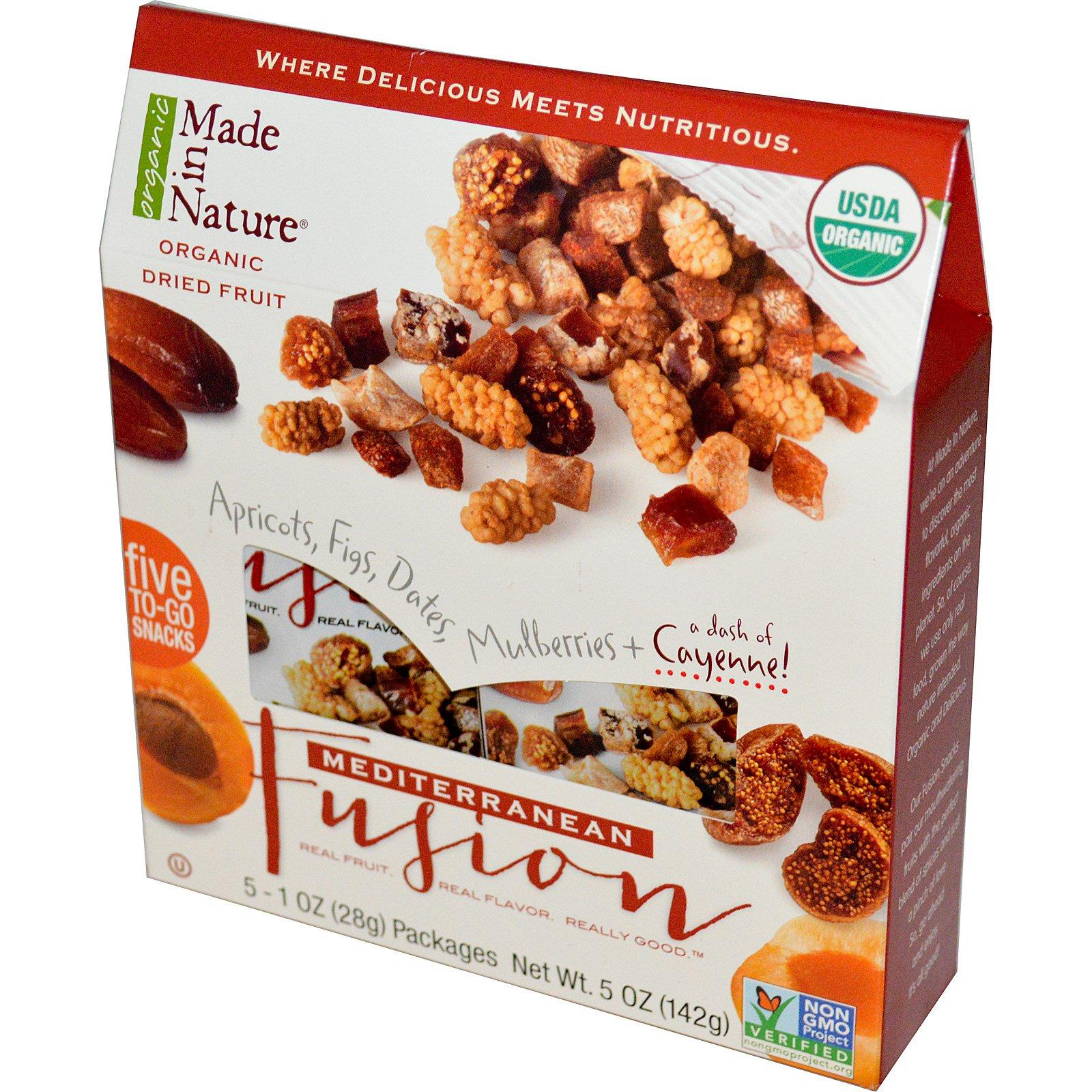Made in Nature, Органические высушенные фрукты, Средиземноморская смесь, 5 пачек, 1 унция (28 г) каждая