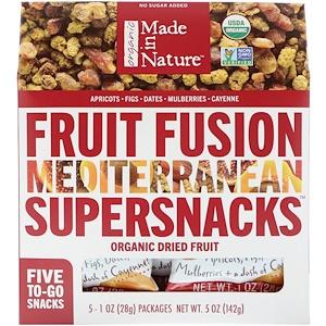 Маде ин натуре, Organic Fruit Fusion, Mediterranean Supersnacks, 5 Packages, 1 oz (28 g) Each отзывы покупателей
