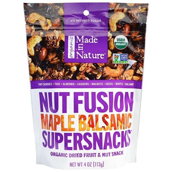 Made in Nature, ナッツフュージョン・スーパースナック、 メープルバルサミコ、 4 オンス (113 g)