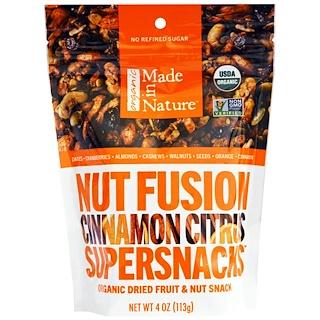Made in Nature, Nut Fusion Supersnacks, Cinnamon Citrus, 4 oz (113 g)