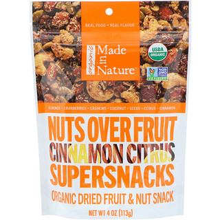 Made in Nature, Nuts Over Fruit Supersnacks, Cinnamon Citrus, 4 oz (113 g)