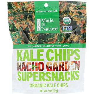 Made in Nature, Organic Kale Chips, Supersnacks, Nacho Garden, 2 oz (57 g)