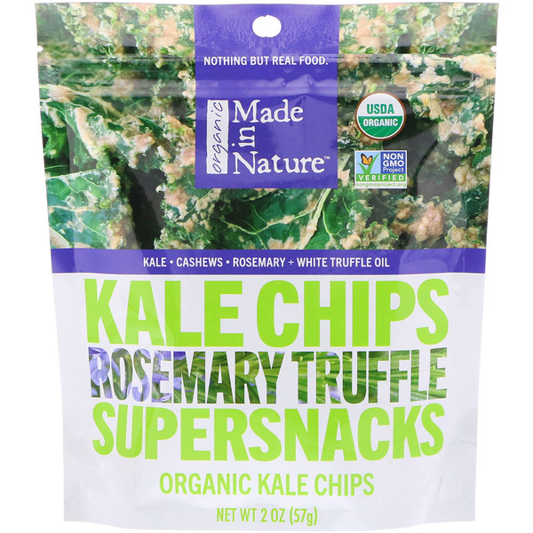 Made in Nature, Organic Kale Chips, Rosemary Truffle Supersnacks, 2 oz (57 g) (Discontinued Item)