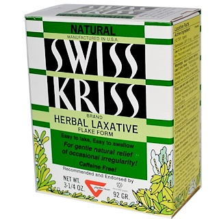 Modern Products, Swiss Kriss Herbal Laxative, Flake Form, 3-1/4 oz (92 g)