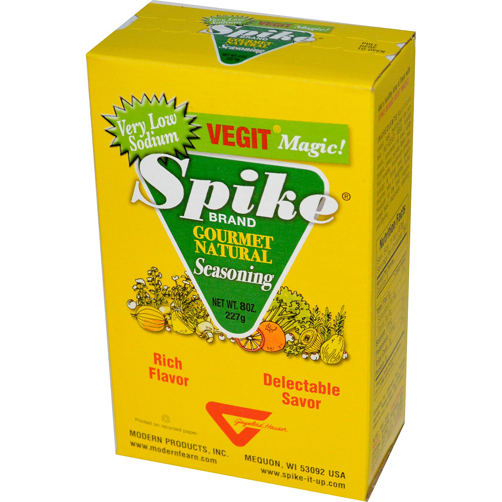 Modern Products, Spike Brand Vegit Magic!, Изысканная Натуральная Приправа 8 унции (227 г)
