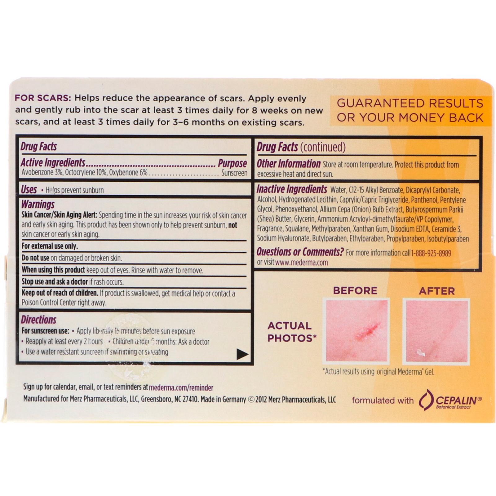 Mederma Scar Cream Spf 30 0 70 Oz 20 G Iherb
