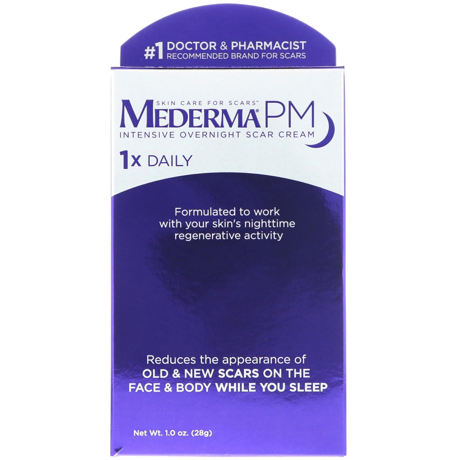 Mederma Pm Intensive Overnight Scar Cream 1 0 Oz 28 G Iherb