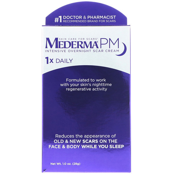 PM, Intensive Overnight Scar Cream, 1.0 oz (28 g)