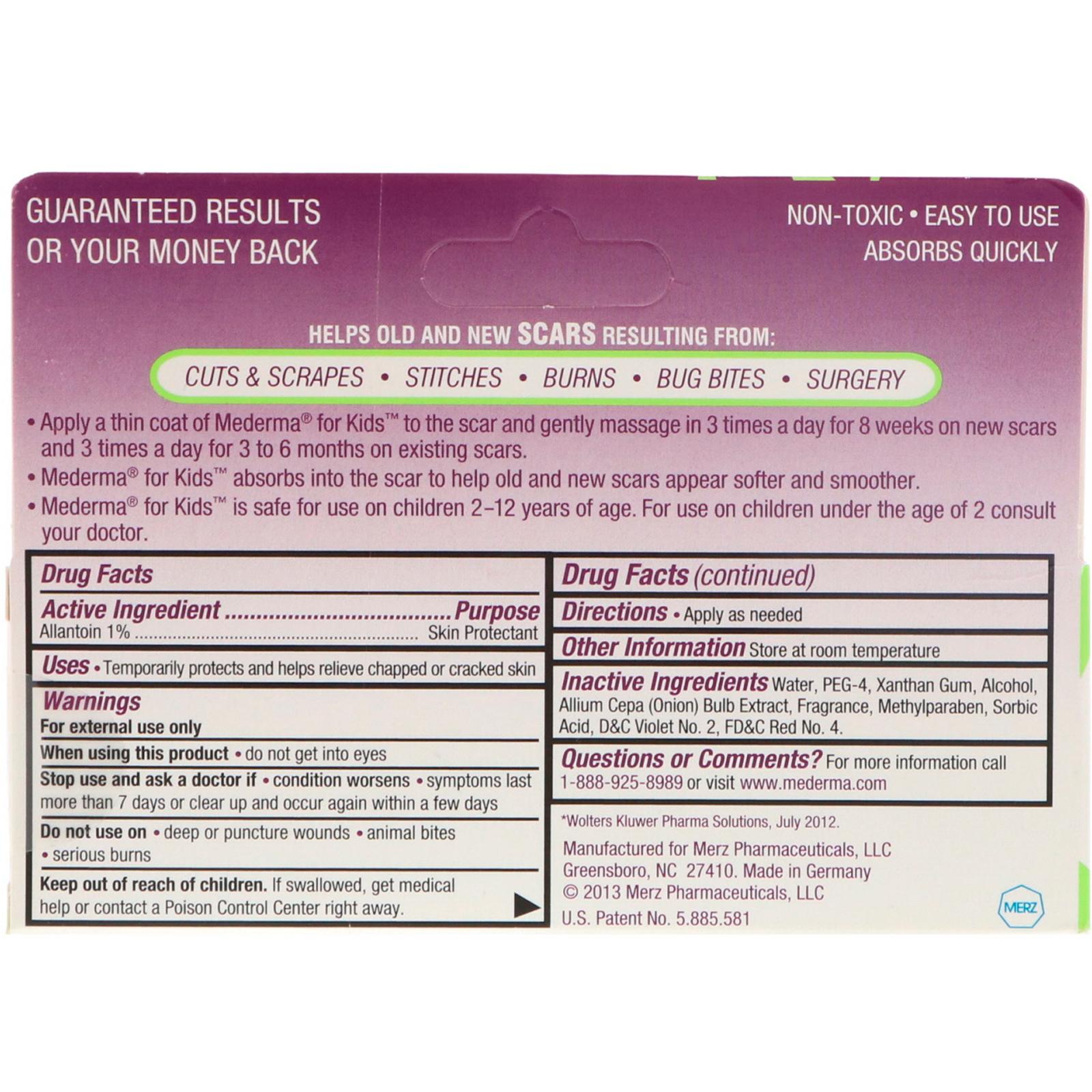 Mederma Skin Care For Scars For Kids 0 70 Oz 20 G Iherb