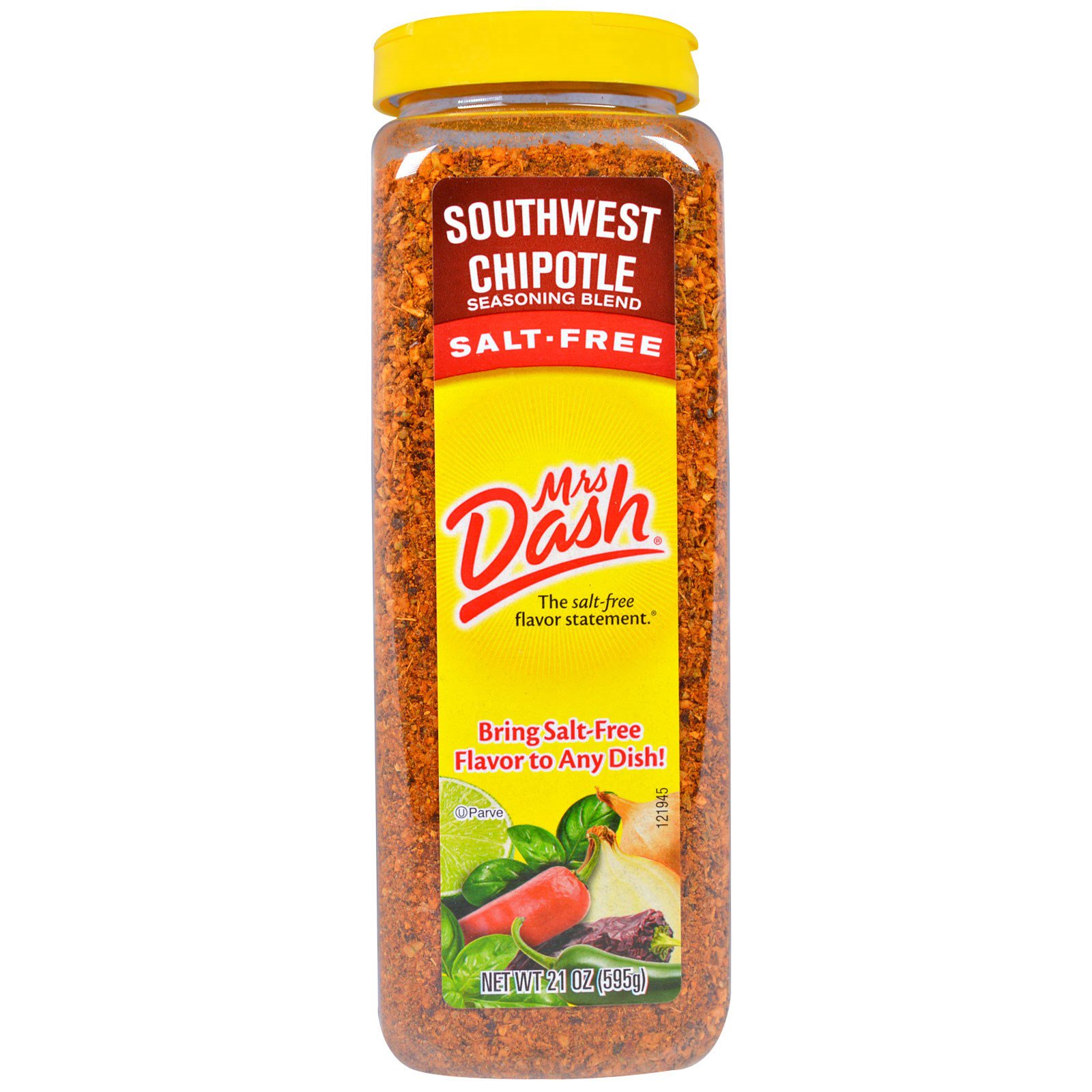 Mrs. Dash, Смесь приправ с сушеными перцами халапено с Юго-Запада, без соли, 21 унция (595 г)