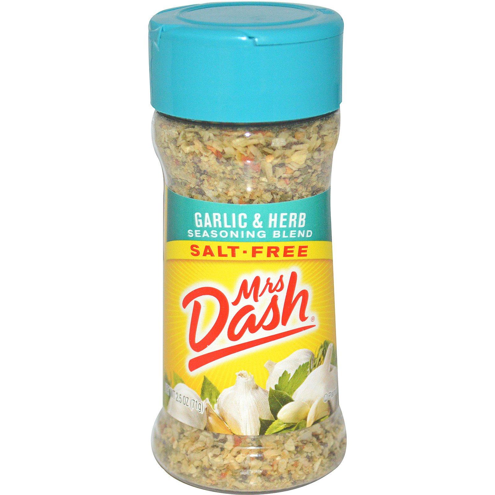 Mrs. Dash, Приправа с чесноком и травами, 2.5 унций (71 г)
