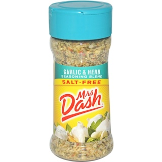 Mrs. Dash, Garlic & Herb Seasoning Blend, Salt-Free, 2.5 oz (71 g)