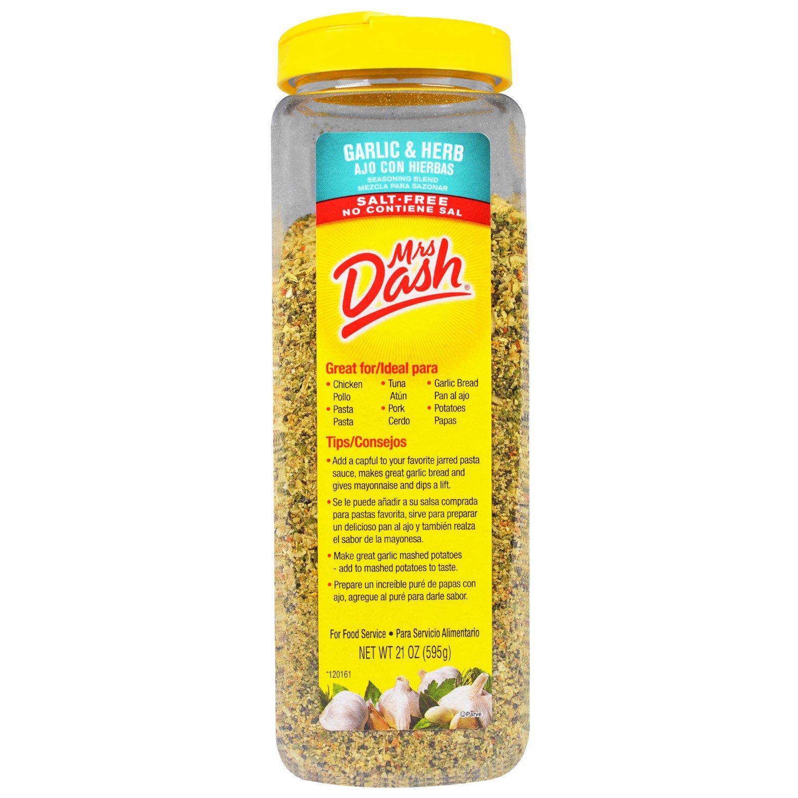 Mrs. Dash, Смесь приправ с чесноком и травами, 21 унция (595 г)