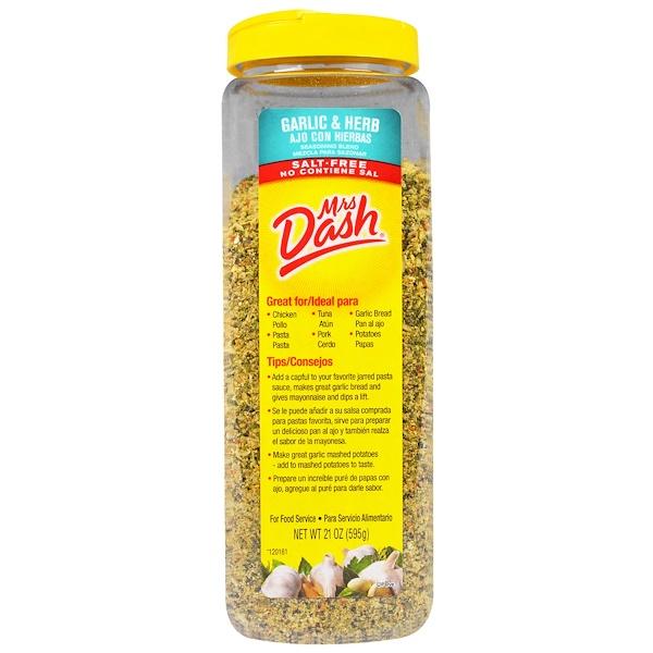 Mrs. Dash, Garlic & Herb Seasoning Blend, Salt-Free, 21 oz (595 g)