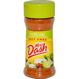 Mrs. Dash, Seasoning Blend, Fiesta Lime, Salt-Free, 2.5 oz (68 g)