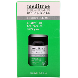 Meditree, Pure Australian Botanicals, 100% Pure Australian Tea Tree Oil, 0.5 fl oz (15 ml)