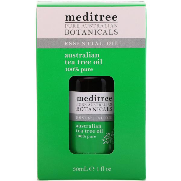 Meditree, Pure Australian Botanicals، زيت شجرة الشاي الأسترالي 100%، أوقية سائلة (30 مل)