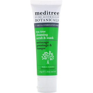 Meditree, Pure Australian Botanicals, Tea Tree Cleansing Scrub & Mask, For Oily & Combination Skin, 1.8 oz (50 g)