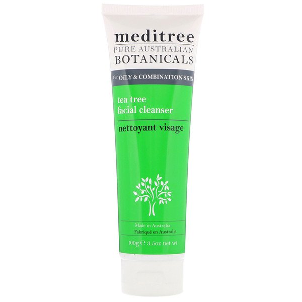 Pure Australian Botanicals, Tea Tree Facial Cleanser, For Oily & Combination Skin, 3.5 oz (100 g)