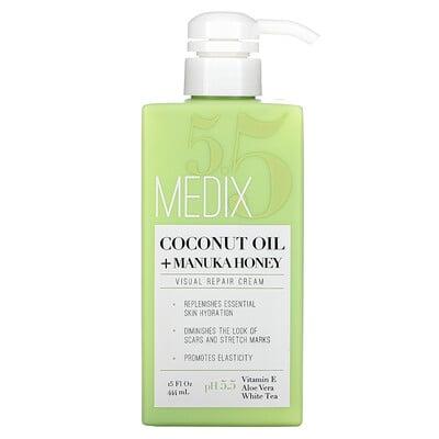 Medix 5.5 Coconut Oil + Manuka Honey, Visual Repair Cream, 15 fl oz (444 ml)