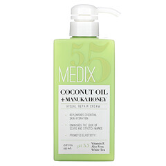 Medix 5.5, 椰子油 + 麥盧卡蜂蜜,視覺修復霜,15 液量盎司(444 毫升)