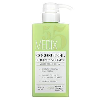 Medix 5.5, Coconut Oil + Manuka Honey, Visual Repair Cream, 15 fl oz (444 ml)