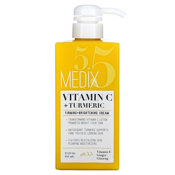 Vitamin C + Turmeric, Firming + Brightening Cream, 15 fl oz (444 ml)