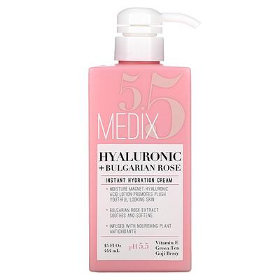 Medix 5.5 Hyaluronic + Bulgarian Rose, Instant Hydration Cream, 15 fl oz (444 ml)