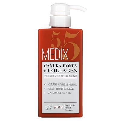Купить Medix 5.5 Manuka Honey + Collagen Lotion, 15 fl oz (444 ml)