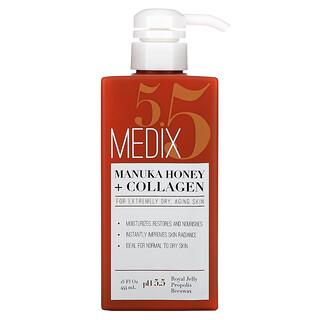 Medix 5.5, Manuka Honey + Collagen Cream, 15 fl oz (444 ml)
