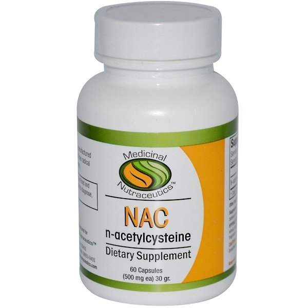 Medicinal Nutraceutics, NAC, N-Acetylcysteine, 500 mg Each, 60 Capsules  (Discontinued Item)