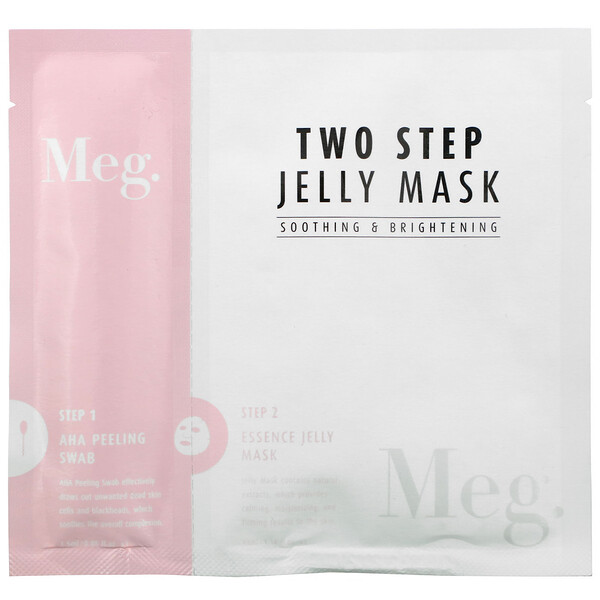 Meg Cosmetics, Two Step Jelly Mask, Soothing and Brightening, 1 Set