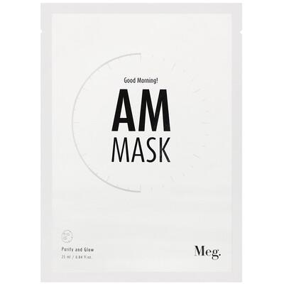 Купить Meg Cosmetics Good Morning AM Mask, 1 Sheet, 0.84 fl oz (25 ml)