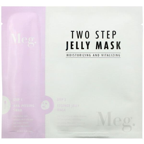 Meg Cosmetics, Two Step Jelly Mask, Moisturizing and Vitalizing, 1 Set