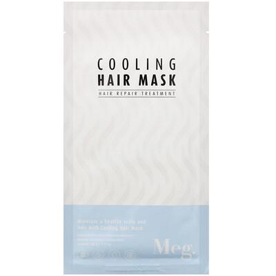 Meg Cosmetics Cooling Hair Mask, 1 Sheet, 1.41 oz (40 g)
